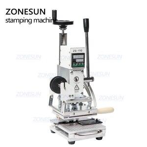 Image 5 - ZONESUN חם לסכל Stamping מכונת למכס לוגו Slideable Workbench עור הבלטות Bronzing כלי עבור עץ PVC DIY ראשוני