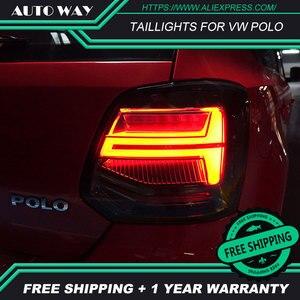 Image 3 - Auto Styling rückleuchten fall für VW Polo rückleuchten 2011 2017 Polo rücklicht LED Rücklicht polo rückleuchten hinten stamm lampe