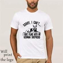 Camiseta para camiseta mi dispiace não posso ho piani com il mio cane da pastore tedesco