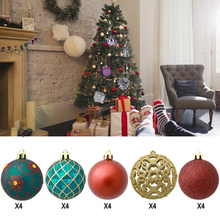 6CM 20 PCS Christmas Balls Set Festival Dec Shatterproof Tree Pendants Plastic DIY Hanging Large Ball Ornament