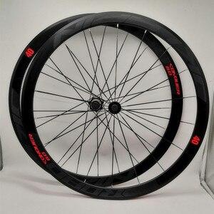 C6.0 700C дорожный велосипед колесная алюминиевая оплетка подшипника сплав колеса Набор плоских спиц 40 мм обод V тормоз анти-курсор наклейка