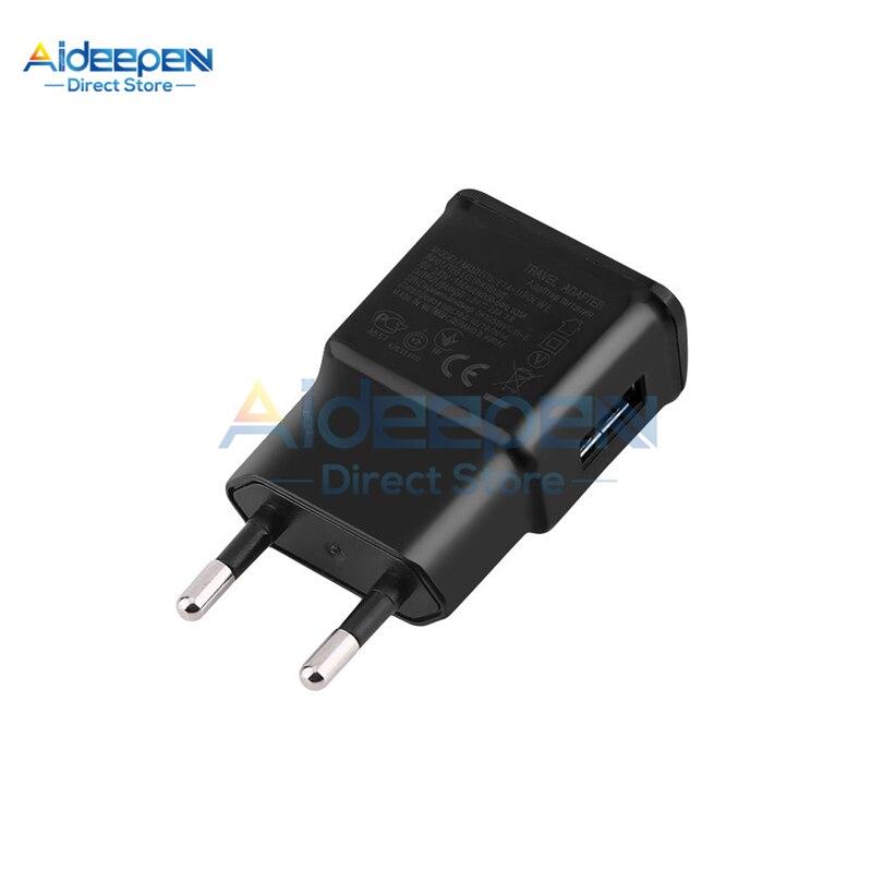 Универсальное зарядное устройство USB 5 В, 2 А, для ЕС/США, настенный адаптер питания для мобильного телефона, зарядное устройство для iPhone, samsung,...