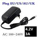 4 2 V 3A 5 5*2 1mm AC DC адаптер питания зарядное устройство для 1 серии 4 2 V 3 7 V 3 6 V 18650 Li-Ion Li-po батареи Бесплатная доставка