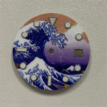 28.5mm Watch Dial for Mingzhu 2813 for Japan 8215,2836 ETA2824 Movements Surfing Luminous Dial