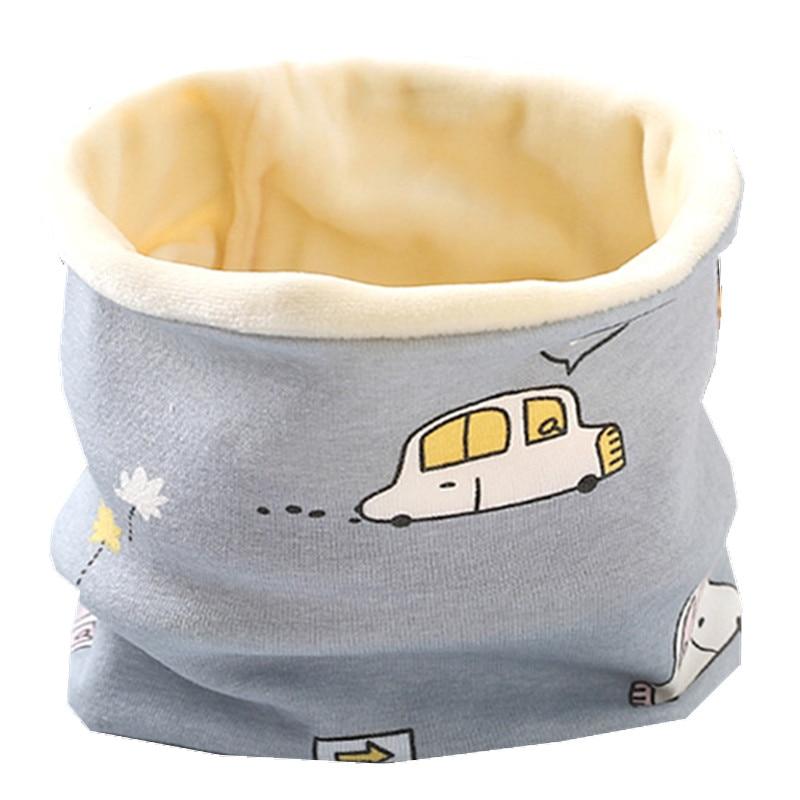 Осенне-зимний детский хлопковый плюшевый шарф, детский шарф для девочек, шарфы для мальчиков и девочек, детский воротник, детский волшебный шейный платок с круглым вырезом - Цвет: plush car