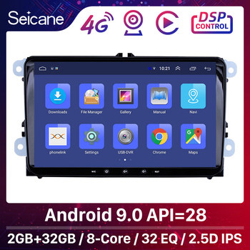 High Version RAM 2GB ROM 32GB 9 inch Android 9.0 Car Multimedia player For VW/Volkswagen/Golf/Tiguan/Passat/b6 b5 Radio GPS image