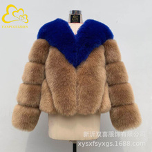 Large size womens fur coat 2019 autumn and winter new short fox high imitation thickening