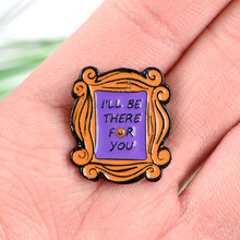 Friends Enamel Pin Monica's Apartament Door 90s TV Show Jewelry Clothes Bag Badge Brooches Lapel Pin For Friendship Gift