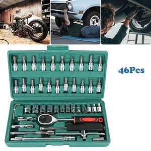 46 шт. Трещоточный ключ, Набор отверток с гнездом набор втулок инструмент для ремонта автомобиля велосипеда
