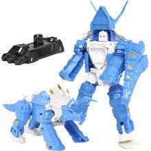 Transformação robô carro brinquedos legal figuras de ação modelo clássico educação precoce brinquedos anime menino presente aniversário dinossauro HF9989-5