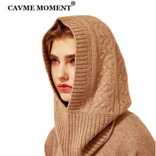 CAVME Winter Cashmere Skullies Beanies Hats Caps for Women Men Ladies Khaki Solid Color Knitted Hat Cap 99% 156g