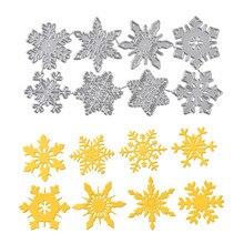 DiyArts Snowflake Cutting Dies Christmas Metal Stencils Die Cut for DIY Scrapbooking Album Paper Card Embossing