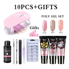 10pcs/Kit Nail Extension Poly Gel Set With Nial Tips Dual Fo
