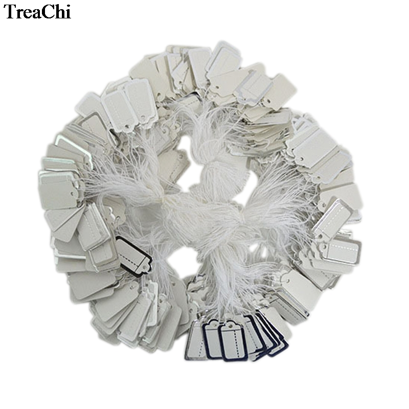 Retail Paper Jewelry Strung Tag Merchandise Clothing Jewelry Accessories Price Tag Silver Gold Convenient Strung Price Label