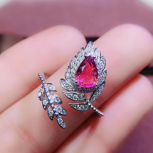 Image 3 - CoLife Jewlery 925 Silver Pink Topaz Ring for Party 4*6mm Natural Topaz Silver Ring Fashion Silver Gemstone Ring