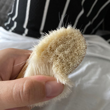 Baby Wooden Brush Comb Head-Massager Newborn Natural-Wool Infant Pure