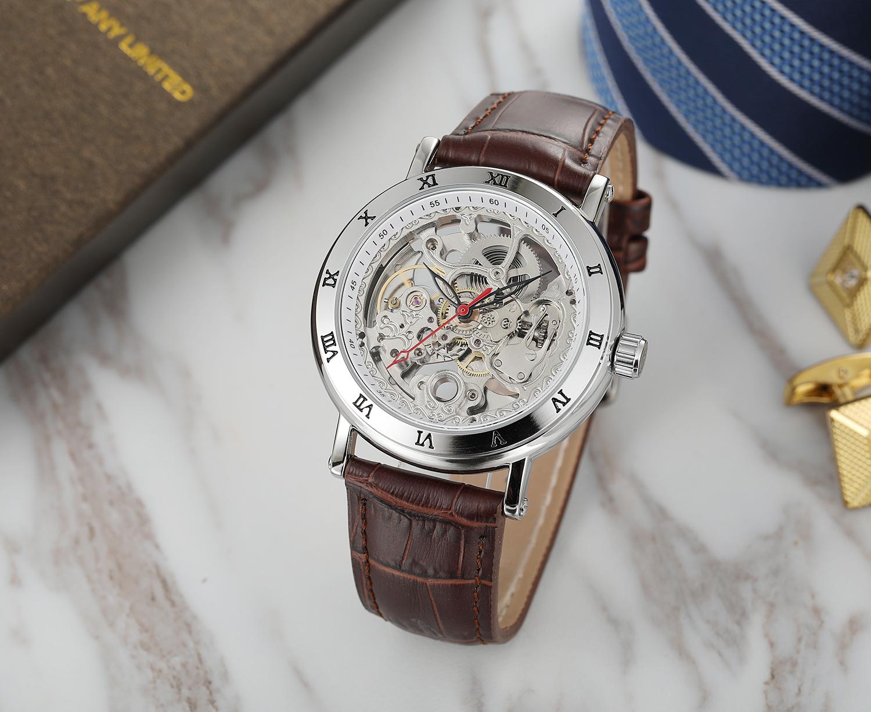 Popular 2020 Forsining New Style Skeleton Wristwatch Custom Automatic Movement Watches