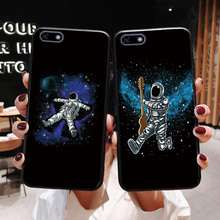 7A 5.45 Astronaut Silicone Phone Case For Huawei Honor Black TPU Cover Bumper Music Shell