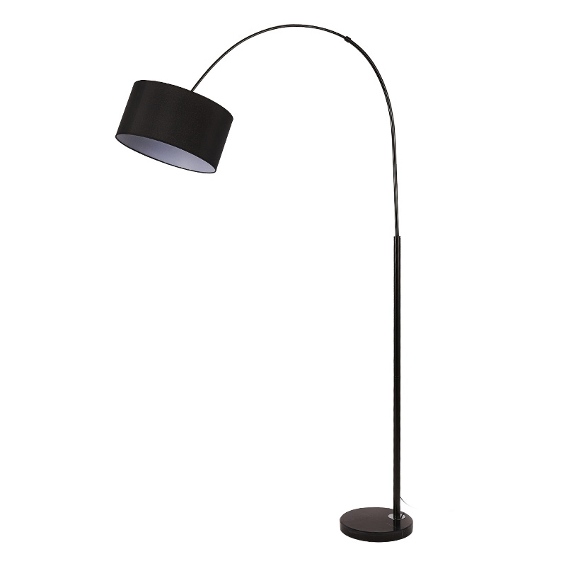Floor Lamp Black White Fabric Lampshade
