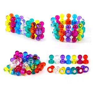 1/5/10pcs DIY Strong Colored Magnetic Thumbtacks Neodymium Noticeboard Skittle Pin Magnets Whiteboard Random Color(China)