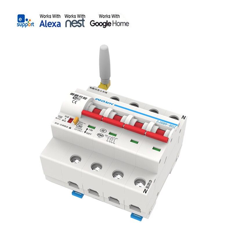 EWeLink 4P 16A-100A disjoncteur Wifi à télécommande/commutateur intelligent/support de réperdant automatique alexa et google home