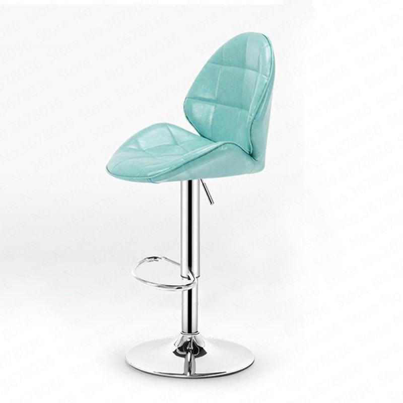 Bar Stool Modern Minimalist Fashion High Stool Lift Bar Chair Home Metalic Cortex Chair Counter Chair Raise The Backrest