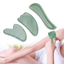 3Pcs Jade Aventurine Scraping Plate Board Set Body Massage Plate Back Scraping SPA Massage Tool