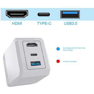 Image 4 - AC 充電器ドックベース支持充電テレビモードスイッチ HDMI USB ポート nintend スイッチ Huawei 社 P30 プロサムスン note8