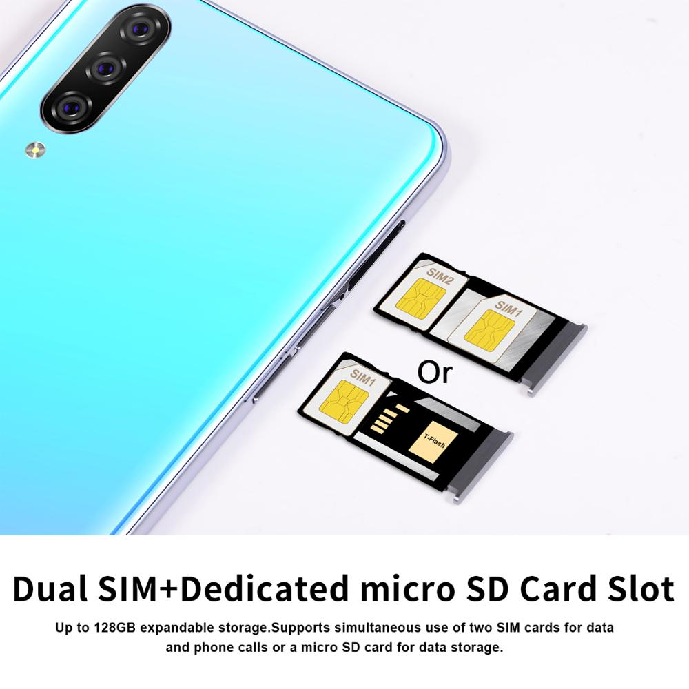 Image 2 - Smartphone M9 Cellphones 6GB+128GB 10 core Android 9.1 Fingerprint Face Unlock Dual Camera 4G Smart Mobile Cell Phone
