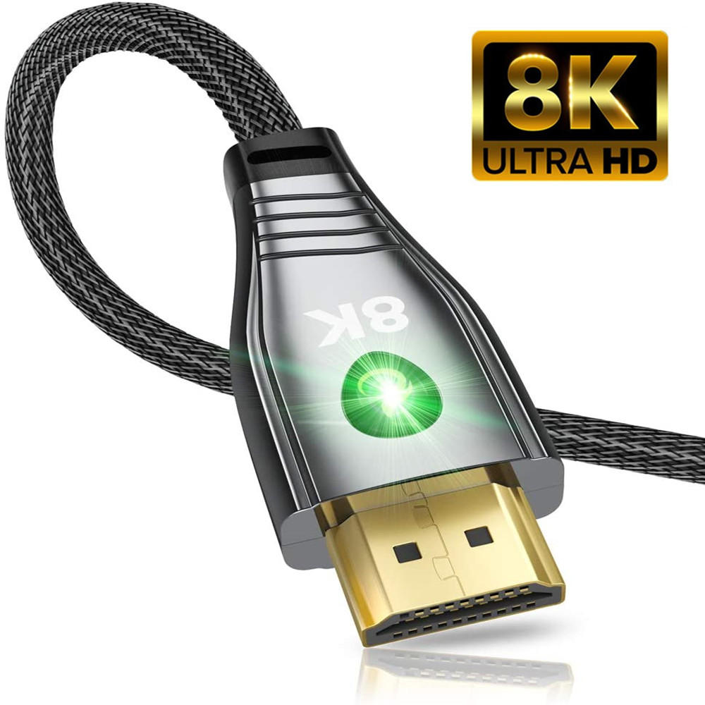 LED HDMI-compatible 2.1 Cable 8K@60hz 4K@120hz HIFI sound quality Audio Dynamic HDR HDCP 2.2 ARC High Speed 48Gbps for Monitor
