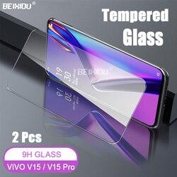 На Алиэкспресс купить стекло для смартфона 2 pcs full tempered glass for vivo v15 / v15 pro screen protector 2.5d 9h tempered glass on the vivo y17 y15 y12 protective film