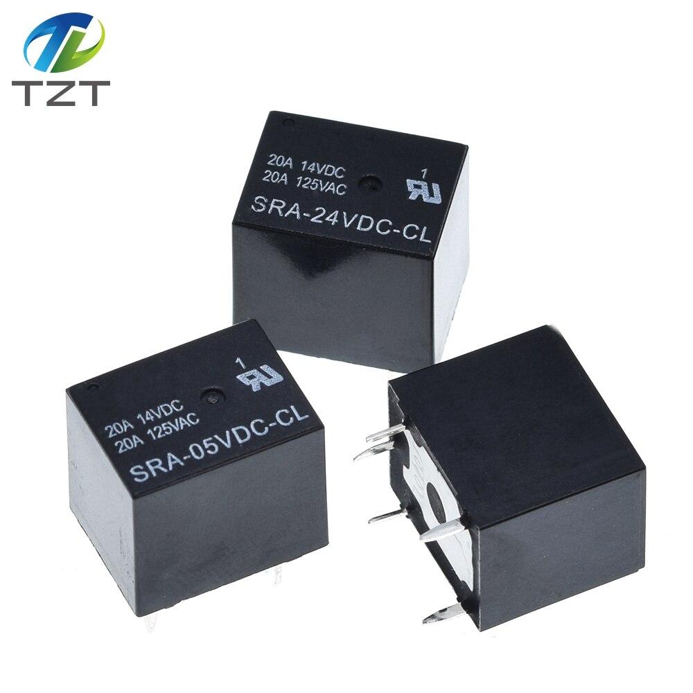 Image 2 - 50PCS Power relays SRA 05VDC CL SRA 12VDC CL SRA 24VDC CL 5V 12V 24V 20A 5PIN T74 5PIN CMA51 HFKW DC Mini Power Relayrelay dcdc dcrelay 20a -