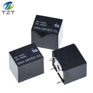 Image 2 - Relè di potenza 50PCS SRA 05VDC CL SRA 12VDC CL 5V 12V 24V 20A 5pin T74 5pin CMA51 HFKW DC Mini relè di potenza