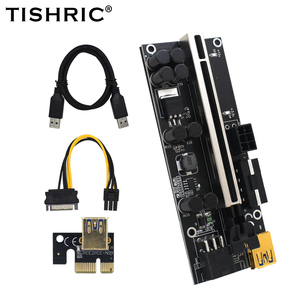Image 1 - TISHRIC Riser Card PCI PCIE 1X 4X 8X 16X Extender PCI E Graphics Extension Cable VER009S Plus Rise Adapter For GPU Miner Mining