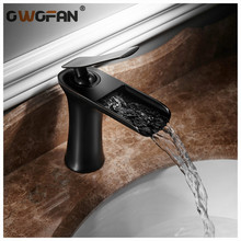 Basin Faucets Waterfall Bathroom Faucet Single Handle Basin Mixer Tap Black Bronze Faucet Brass Hot and Cold Sink Water Crane цена