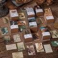 100 stücke Vintage Buch sammlung 2 serie Kraft Papier Mini Gruß Karte Postkarte DIY Dekoration Material Retro LOMO Karte