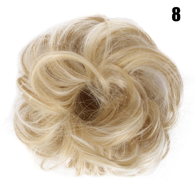 New Hot Easy To Wear Stylish Hair Scrunchies Naturally Messy Curly Bun Hair Extension SMR88