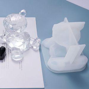 Смола Кристалл эпоксидная форма мультфильм 3D Медведь держатель телефона литье силиконовая форма «сделай сам» ремесла украшения инструменты