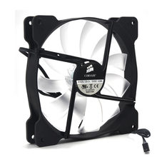 140mm led fan A1425L12S-2-L silent cooling fan 140*25mm 12VDC 0.30A(Rated 0.18A) computer pc set up cooling fan 870RPM 3pin(China)