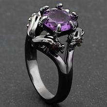 Горячая Распродажа Австрийское черное готическое кольцо очаровательные