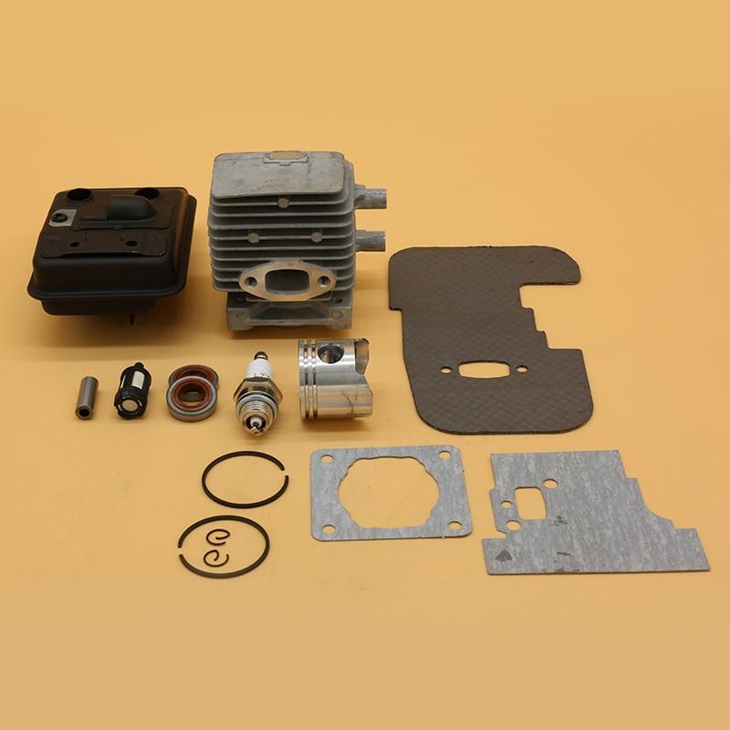 34MM Cylinder Piston Exhaust Muffler Gasket Kit for Stihl FS75 FS80 FS85 Trimmer 4137-140-0603 Oil Seal Garden ChainsawParts