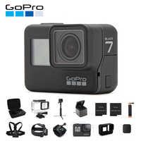 Caméra d'action GoPro originale HERO 7 noir 4K 60fps 1080P 240fps vidéo Go Pro Sport caméra 12MP Photo wifi Live Streami Hyper lisse