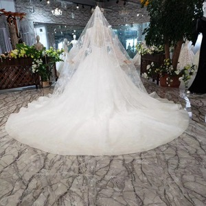 Image 2 - BGW HT5619 Suknia Slubna Heavy Handmade Wedding Dresses With Long Sleeves O neck Corset Wedding Gown 2020 New