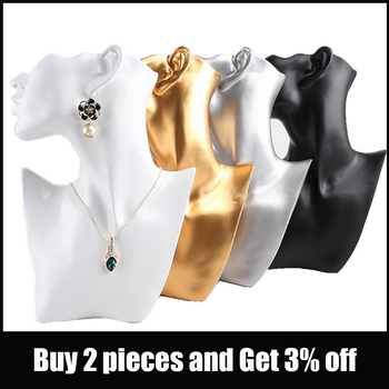 Resin Material Jewelry Showcase Rack Creative Earrings Necklace Figurine Display Stand Necklace Pendant Bust Displays Holder