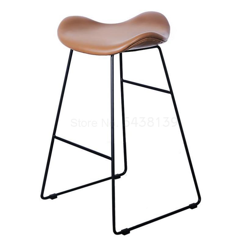 Nordic Light Luxury Bar Chair Fashion Personality Iron Bar Chair Creative Bar Stool Simple Modern Home High Stool