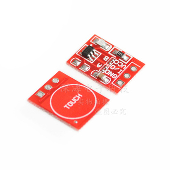ttp223 touch button module self-locking point moving capacitive switch single-way transformation microwave radar sensor module image