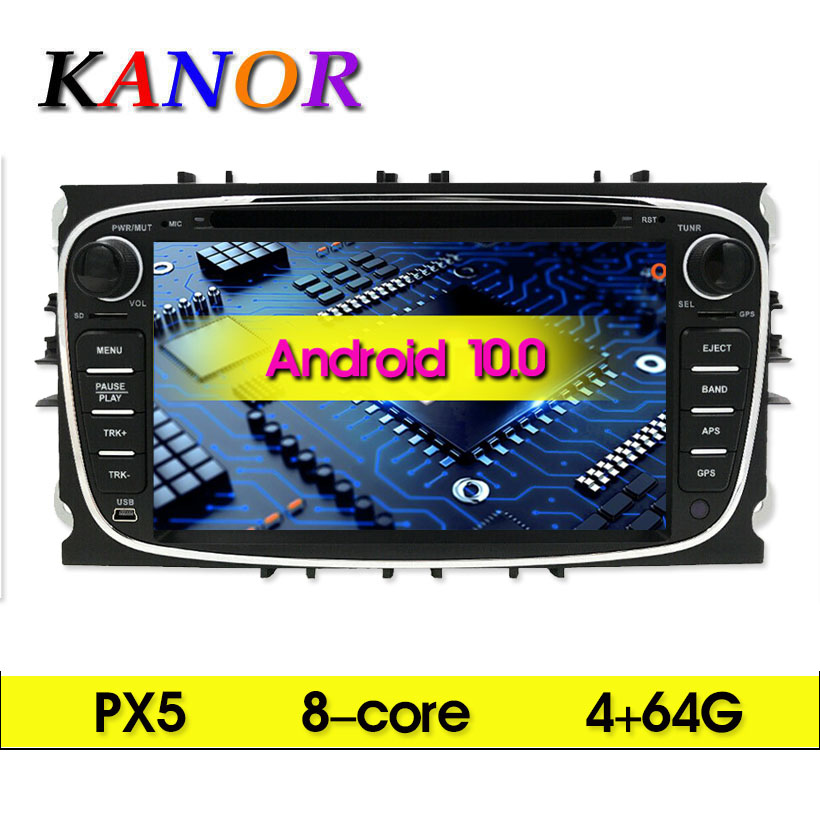 2 Din Android 10 Octa Core 4+64G Car Multimedia Player For <font><b>Ford</b></font> <font><b>Focus</b></font> 2 S-<font><b>MAX</b></font> Mondeo <font><b>C</b></font>-<font><b>MAX</b></font> Wifi <font><b>GPS</b></font> Navigation Autoradio Stereo image