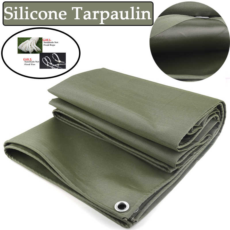 Green 99/% Shade High Density Woven Canvas Ground Sheet Covers Extra Thick 35 mil//0.9mm Tarpaulin Heavy Duty Waterproof Tarp Size : 2x4m