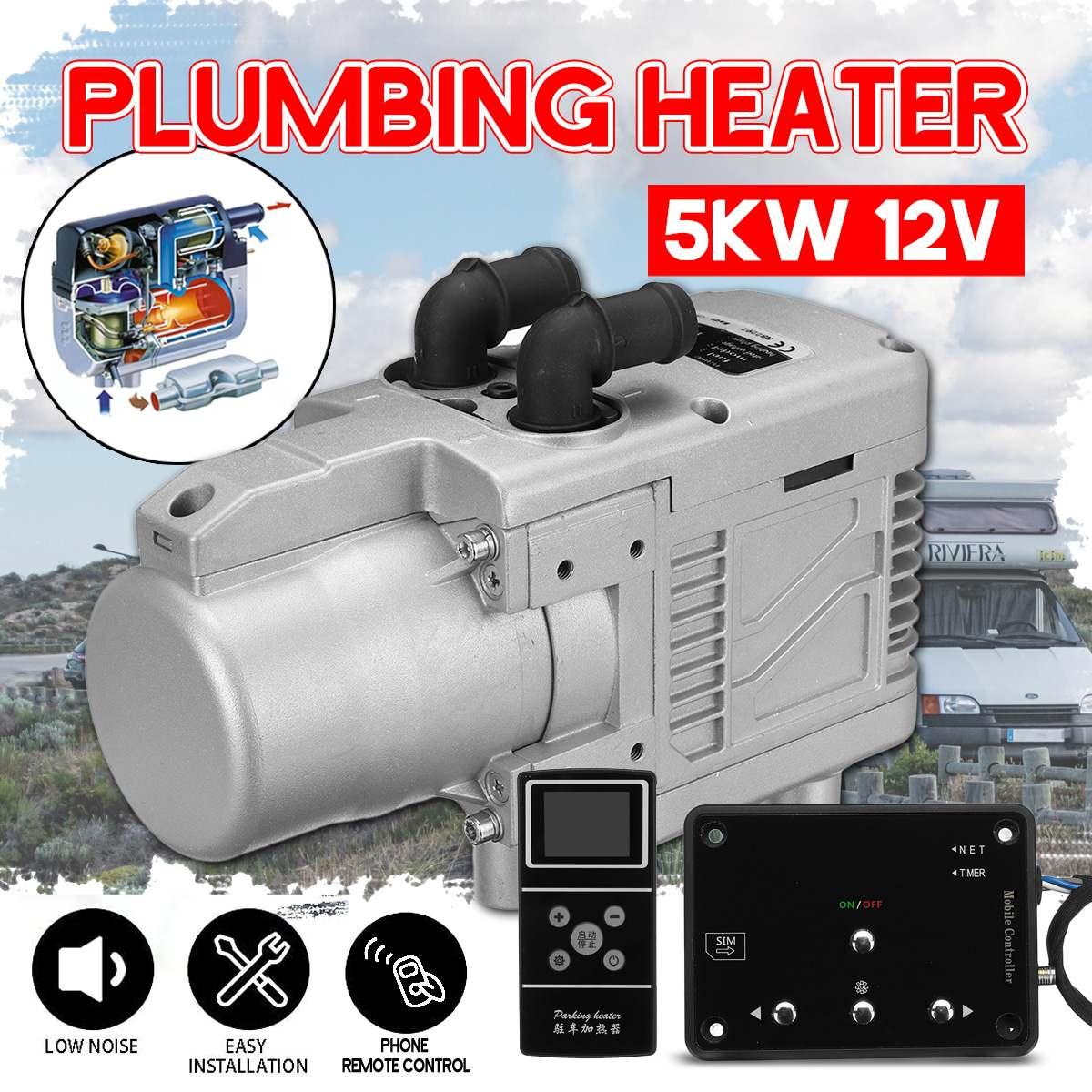5KW 12V Diesel Air Kit de chauffage de voiture Diesel/essence universel chauffe-eau + téléphone télécommande LCD moniteur pour camions à moteur