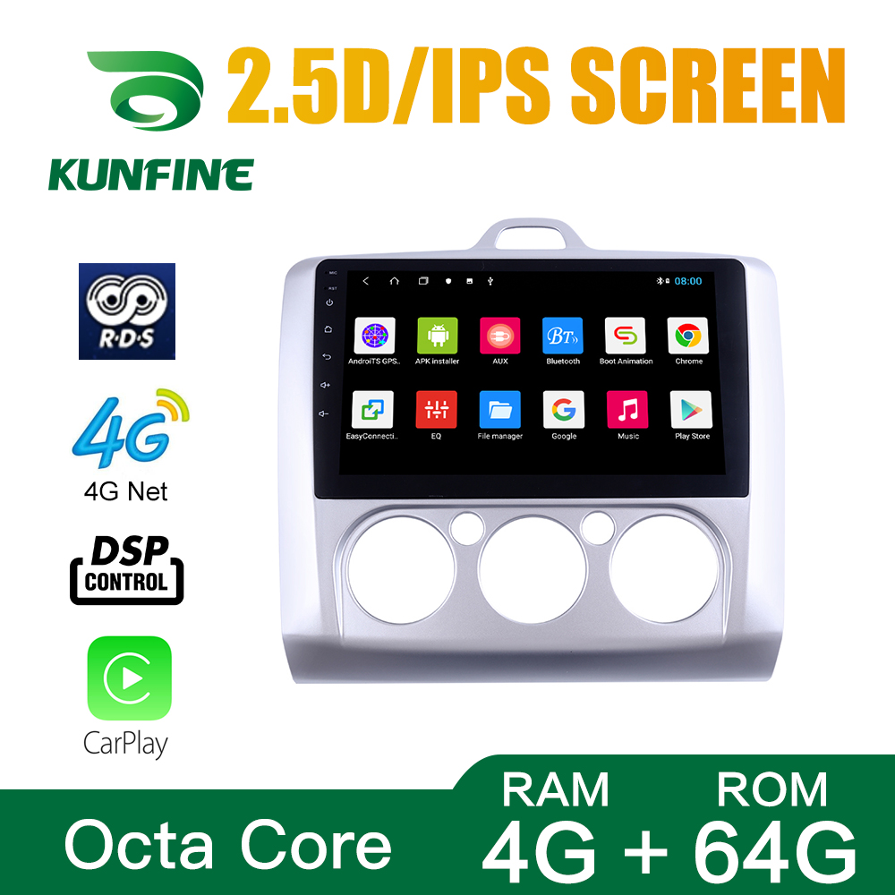 Octa Core 1024*600 Android10.0 Car DVD GPS <font><b>Navigation</b></font> Player Deckless Car Stereo For <font><b>FORD</b></font> <font><b>Focus</b></font> 2009-2014 MT Radio Headunit wifi image